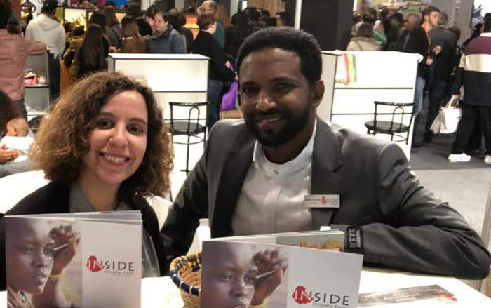 Amanda and Binyam from Inside Ethiopia Tours at Madrid Fitur