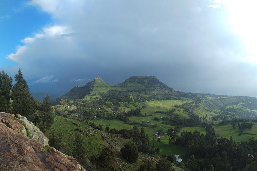 View of Asheton Maryam mountain from Hudad Mountain