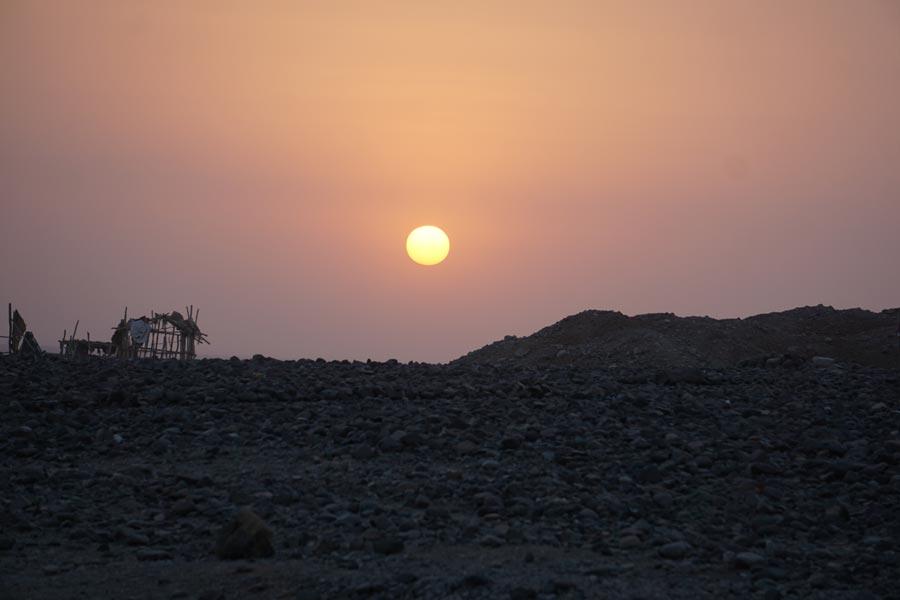 Sunset in Ahmedela (Danakil Depression)