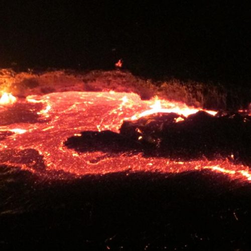 The lava of the Erta Ale volcano is alive and kicking