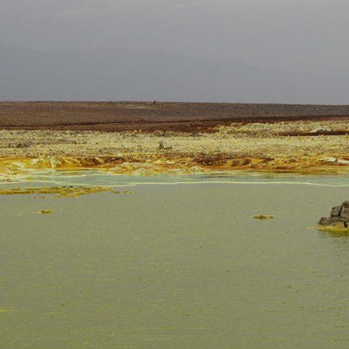 Landscape of Dallol, the lowest part of the Danakil Depression