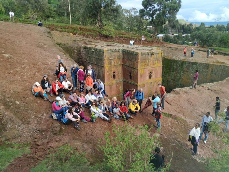 group tour at lalibela ethiopia
