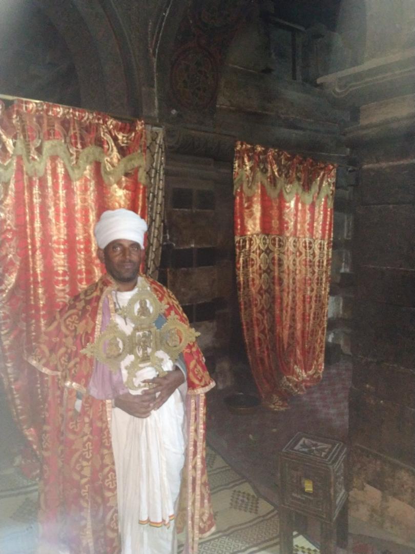 priests at lalibela ethiopia